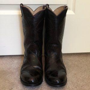 🎉 Authentic Handmade Men's Eel Boots